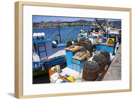 Tthe Fishing Harbour of Ancud, Island of Chiloe, Chile, South America-Peter Groenendijk-Framed Art Print