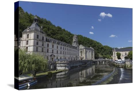 Abbey by the River Dronne, Brantome, Dordogne, Aquitaine, France, Europe-Jean Brooks-Stretched Canvas Print