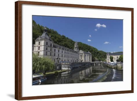 Abbey by the River Dronne, Brantome, Dordogne, Aquitaine, France, Europe-Jean Brooks-Framed Art Print