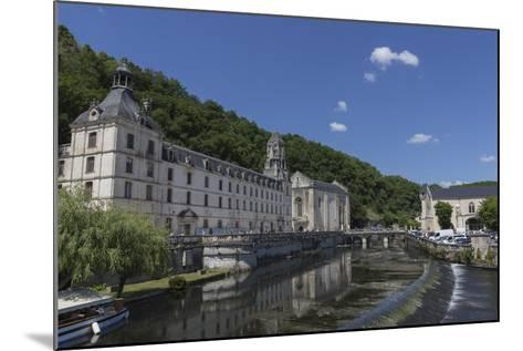 Abbey by the River Dronne, Brantome, Dordogne, Aquitaine, France, Europe-Jean Brooks-Mounted Photographic Print