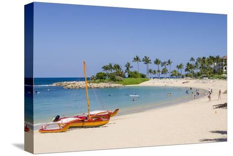 Ko Olina Beach, West Coast, Oahu, Hawaii, United States of America, Pacific-Michael DeFreitas-Stretched Canvas Print