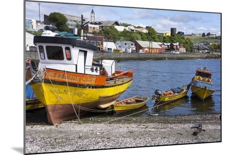 Tthe Fishing Harbour of Ancud, Island of Chiloe, Chile, South America-Peter Groenendijk-Mounted Photographic Print