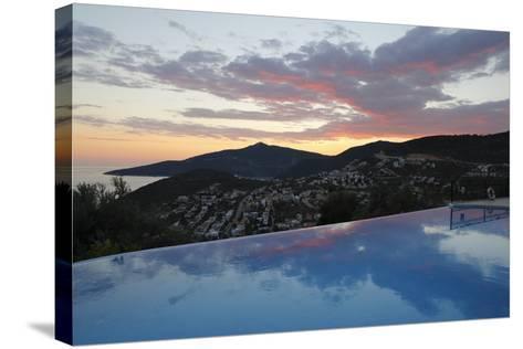 Infinity Pool at Sunset, Mediteran Hotel, Kalkan-Stuart Black-Stretched Canvas Print