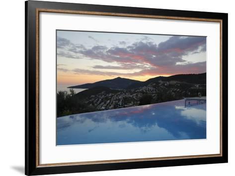 Infinity Pool at Sunset, Mediteran Hotel, Kalkan-Stuart Black-Framed Art Print