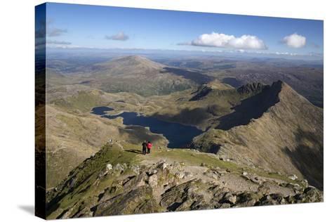 View from Summit of Snowdon to Llyn Llydaw and Y Lliwedd Ridge-Stuart Black-Stretched Canvas Print