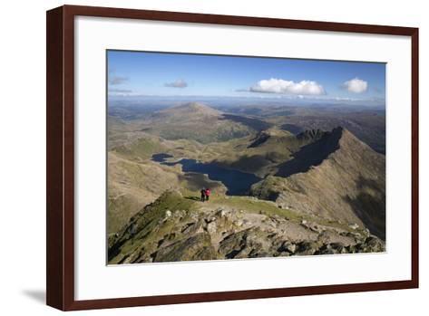 View from Summit of Snowdon to Llyn Llydaw and Y Lliwedd Ridge-Stuart Black-Framed Art Print