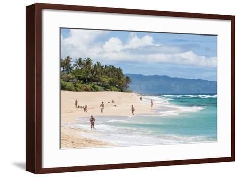 Sunset Beach, North Shore, Oahu, Hawaii, United States of America, Pacific-Michael DeFreitas-Framed Art Print