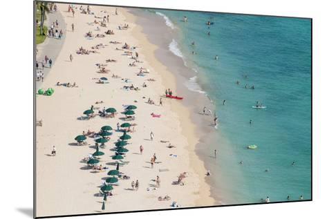 Waikiki Beach, Waikiki, Honolulu, Oahu, Hawaii, United States of America, Pacific-Michael DeFreitas-Mounted Photographic Print