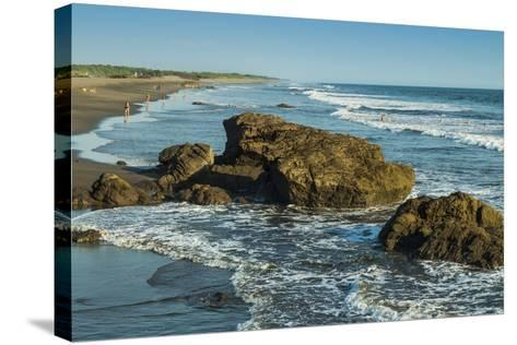 Poneloya Beach, a Popular Little Pacific Coast Surf Resort, West of the Northern City of Leon-Rob Francis-Stretched Canvas Print