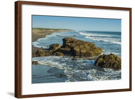 Poneloya Beach, a Popular Little Pacific Coast Surf Resort, West of the Northern City of Leon-Rob Francis-Framed Art Print