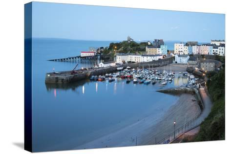 View over Harbour and Castle, Tenby, Carmarthen Bay, Pembrokeshire, Wales, United Kingdom, Europe-Stuart Black-Stretched Canvas Print