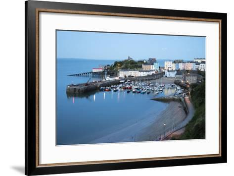 View over Harbour and Castle, Tenby, Carmarthen Bay, Pembrokeshire, Wales, United Kingdom, Europe-Stuart Black-Framed Art Print