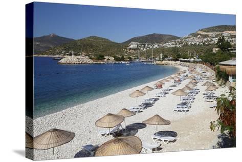 View over Beach, Kalkan, Lycia-Stuart Black-Stretched Canvas Print