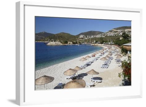 View over Beach, Kalkan, Lycia-Stuart Black-Framed Art Print