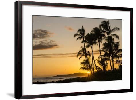 Sunset at Poipu Beach, Kauai, Hawaii, United States of America, Pacific-Michael DeFreitas-Framed Art Print