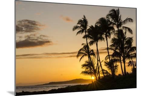 Sunset at Poipu Beach, Kauai, Hawaii, United States of America, Pacific-Michael DeFreitas-Mounted Photographic Print
