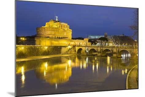 Castel Sant'Angelo and Ponte Sant'Angelo on the River Tiber at Night, Rome, Lazio, Italy-Stuart Black-Mounted Photographic Print
