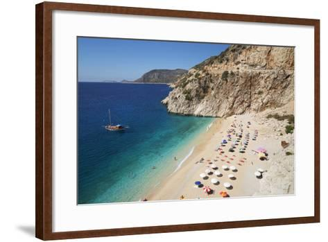 Kaputas Beach, Near Kalkan, Lycia-Stuart Black-Framed Art Print