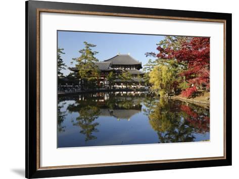 The Buddhist Temple of Topdai-Ji, Nara, Kansai, Japan-Stuart Black-Framed Art Print