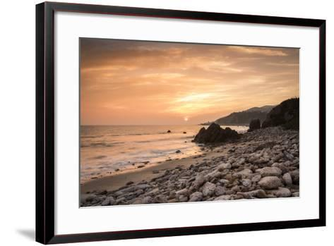 Sunset on Will Rogers Beach, Pacific Palisades, California, United States of America, North America-Mark Chivers-Framed Art Print