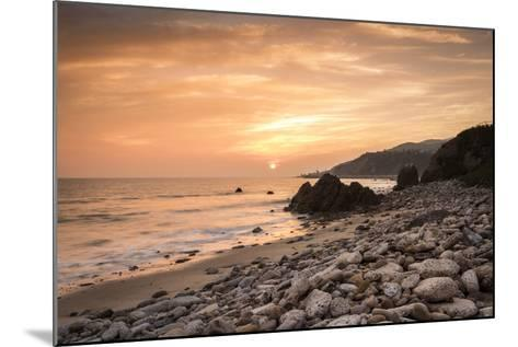 Sunset on Will Rogers Beach, Pacific Palisades, California, United States of America, North America-Mark Chivers-Mounted Photographic Print