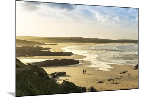 Sunrise at Gwithian Beach, Cornwall, England, United Kingdom-Mark Chivers-Mounted Photographic Print