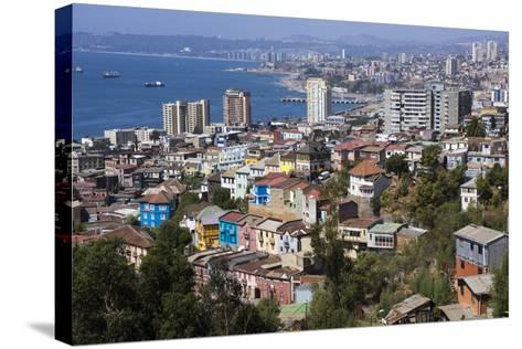 Aerial View, Valparaiso, Chile-Peter Groenendijk-Stretched Canvas Print
