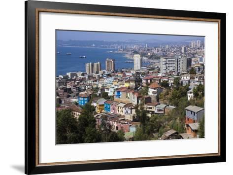 Aerial View, Valparaiso, Chile-Peter Groenendijk-Framed Art Print