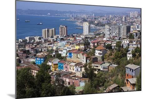 Aerial View, Valparaiso, Chile-Peter Groenendijk-Mounted Photographic Print