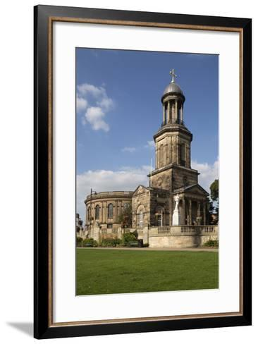 St. Chad's Church, St. Chad's Terrace, Shrewsbury, Shropshire, England, United Kingdom, Europe-Stuart Black-Framed Art Print
