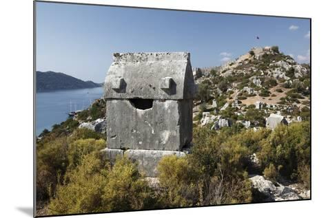 Lycian Sarcophagus and Castle-Stuart Black-Mounted Photographic Print