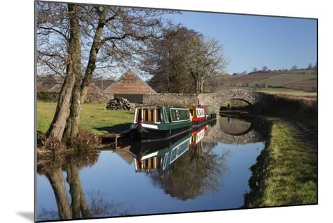 Barges on the Monmouthshire and Brecon Canal-Stuart Black-Mounted Photographic Print