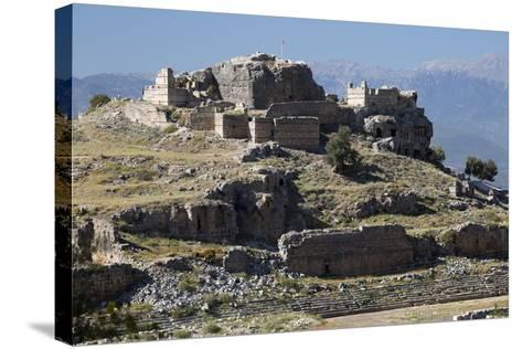 Ruined Stadium and Acropolis, Tlos, Near Kalkan-Stuart Black-Stretched Canvas Print