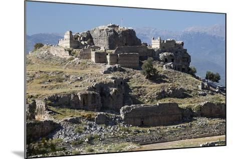 Ruined Stadium and Acropolis, Tlos, Near Kalkan-Stuart Black-Mounted Photographic Print