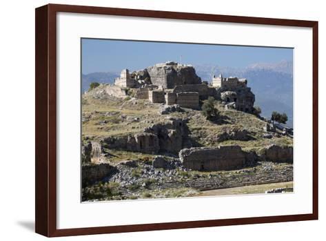 Ruined Stadium and Acropolis, Tlos, Near Kalkan-Stuart Black-Framed Art Print
