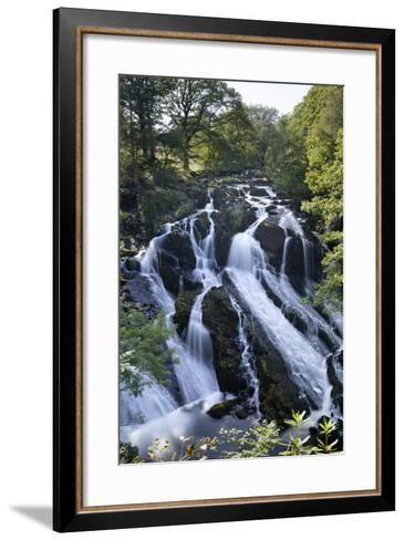 Swallow Falls, Betws-Y-Coed, Snowdonia National Park, Conwy, Wales, United Kingdom, Europe-Stuart Black-Framed Art Print