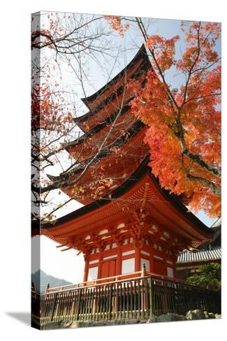 Five-Storey Pagoda (Gojunoto) in Autumn, Miyajima Island, Western Honshu, Japan-Stuart Black-Stretched Canvas Print