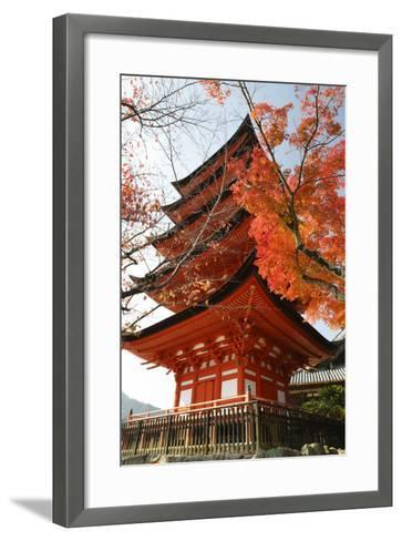 Five-Storey Pagoda (Gojunoto) in Autumn, Miyajima Island, Western Honshu, Japan-Stuart Black-Framed Art Print