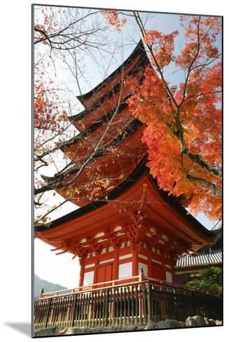 Five-Storey Pagoda (Gojunoto) in Autumn, Miyajima Island, Western Honshu, Japan-Stuart Black-Mounted Photographic Print