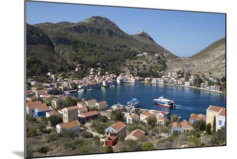 View of Harbour, Kastellorizo (Meis), Dodecanese, Greek Islands, Greece, Europe-Stuart Black-Mounted Photographic Print