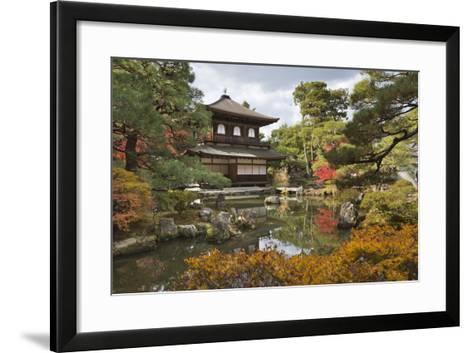 The Silver Pavilion, Buddhist Temple of Ginkaku-Ji, Northern Higashiyama, Kyoto, Japan-Stuart Black-Framed Art Print