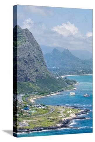 Beach at Waimanalo Bay, Windward Coast, Oahu, Hawaii, United States of America, Pacific-Michael DeFreitas-Stretched Canvas Print