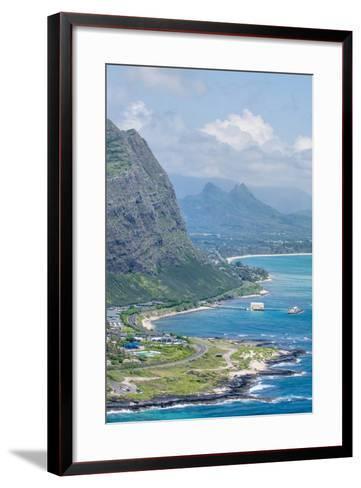 Beach at Waimanalo Bay, Windward Coast, Oahu, Hawaii, United States of America, Pacific-Michael DeFreitas-Framed Art Print