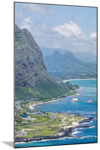 Beach at Waimanalo Bay, Windward Coast, Oahu, Hawaii, United States of America, Pacific-Michael DeFreitas-Mounted Photographic Print