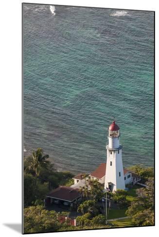 Diamond Head Lighthouse, Honolulu, Oahu, Hawaii, United States of America, Pacific-Michael DeFreitas-Mounted Photographic Print