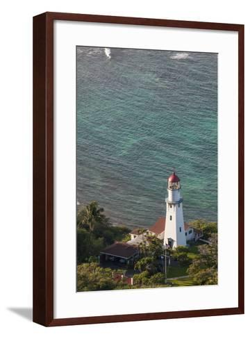 Diamond Head Lighthouse, Honolulu, Oahu, Hawaii, United States of America, Pacific-Michael DeFreitas-Framed Art Print