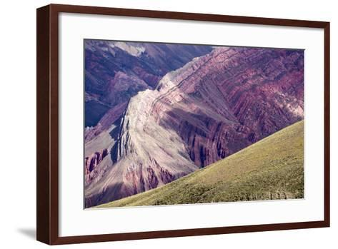 Multi Coloured Mountains, Humahuaca, Province of Jujuy, Argentina-Peter Groenendijk-Framed Art Print