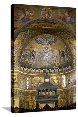 Mosaics Inside the Church of Santa Maria in Trastevere-Stuart Black-Stretched Canvas Print