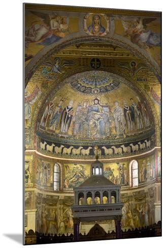 Mosaics Inside the Church of Santa Maria in Trastevere-Stuart Black-Mounted Photographic Print