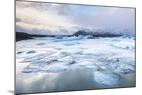 Frozen Icebergs in the Frozen Waters of Fjallsarlon Glacier Lagoon, South East Iceland, Iceland-Neale Clark-Mounted Photographic Print